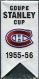 2008/09 Upper Deck Montreal Canadiens Mini Banners 1955-56 Stanley Cup