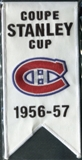 2008/09 Upper Deck Montreal Canadiens Mini Banners 1956-57 Stanley Cup