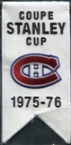 2008/09 Upper Deck Montreal Canadiens Mini Banners 1975-76 Stanley Cup