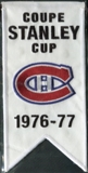 2008/09 Upper Deck Montreal Canadiens Mini Banners 1976-77 Stanley Cup