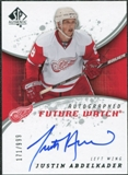 2008/09 Upper Deck SP Authentic #193 Justin Abdelkader RC Autograph /999