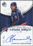 2008/09 Upper Deck SP Authentic #196 Derick Brassard RC Autograph /999
