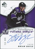 2008/09 Upper Deck SP Authentic #201 Brian Boyle RC Autograph /999