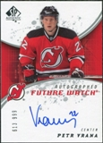 2008/09 Upper Deck SP Authentic #202 Petr Vrana RC Autograph /999