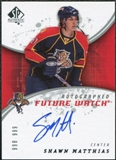 2008/09 Upper Deck SP Authentic #216 Shawn Matthias RC Autograph /999