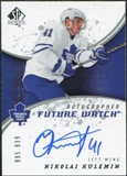 2008/09 Upper Deck SP Authentic #218 Nikolai Kulemin RC Autograph /999