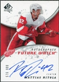 2008/09 Upper Deck SP Authentic #220 Mattias Ritola RC Autograph /999