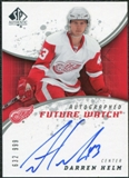 2008/09 Upper Deck SP Authentic #222 Darren Helm RC Autograph /999