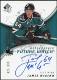 2008/09 Upper Deck SP Authentic #226 Jamie McGinn RC Autograph /999