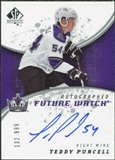 2008/09 Upper Deck SP Authentic #234 Teddy Purcell RC Autograph /999