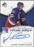 2008/09 Upper Deck SP Authentic #240 Lauri Korpikoski RC Autograph /999