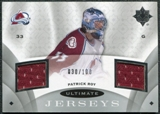 2008/09 Upper Deck Ultimate Collection Ultimate Jerseys #UJPR Patrick Roy /100