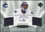 2008/09 Upper Deck Ultimate Collection Ultimate Jerseys #UJRL Roberto Luongo /100