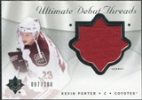 2008/09 Upper Deck Ultimate Collection Debut Threads #DTKP Kevin Porter /200