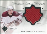 2008/09 Upper Deck Ultimate Collection Debut Threads #DTKT Kyle Turris /200