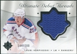 2008/09 Upper Deck Ultimate Collection Debut Threads #DTLK Lauri Korpikoski /200