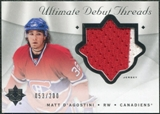 2008/09 Upper Deck Ultimate Collection Debut Threads #DTMD Matt D'Agostini /200
