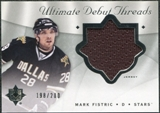 2008/09 Upper Deck Ultimate Collection Debut Threads #DTMF Mark Fistric /200