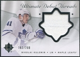 2008/09 Upper Deck Ultimate Collection Debut Threads #DTNK Nikolai Kulemin /200