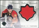 2008/09 Upper Deck Ultimate Collection Debut Threads #DTPV Petr Vrana /200