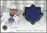 2008/09 Upper Deck Ultimate Collection Debut Threads #DTRE Robbie Earl /200