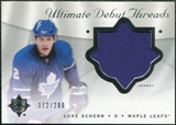 2008/09 Upper Deck Ultimate Collection Debut Threads #DTSC Luke Schenn /200