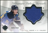2008/09 Upper Deck Ultimate Collection Debut Threads #DTTO T.J. Oshie /200