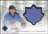 2008/09 Upper Deck Ultimate Collection Debut Threads #DTZB Zach Bogosian /200