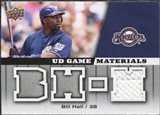2009 Upper Deck UD Game Materials #GMBH Bill Hall