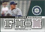 2009 Upper Deck UD Game Materials #GMFH Felix Hernandez