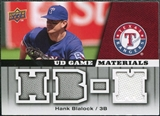 2009 Upper Deck UD Game Materials #GMHB Hank Blalock