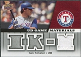2009 Upper Deck UD Game Materials #GMIK Ian Kinsler