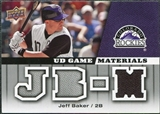 2009 Upper Deck UD Game Materials #GMJE Jeff Baker