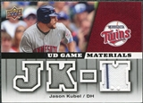 2009 Upper Deck UD Game Materials #GMJK Jason Kubel