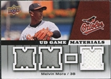 2009 Upper Deck UD Game Materials #GMMM Melvin Mora
