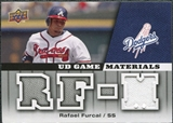 2009 Upper Deck UD Game Materials #GMRF Rafael Furcal