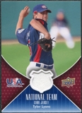 2009 Upper Deck USA National Team Jerseys #TL Tyler Lyons