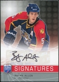 2008/09 Upper Deck Be A Player Signatures #SBA Bryan Allen Autograph