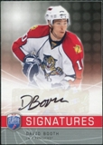 2008/09 Upper Deck Be A Player Signatures #SBO David Booth Autograph