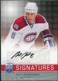 2008/09 Upper Deck Be A Player Signatures #SMK Mike Komisarek Autograph