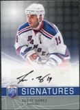 2008/09 Upper Deck Be A Player Signatures #SSG Scott Gomez Autograph