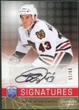 2008/09 Upper Deck Be A Player Signatures Player's Club #SJW James Wisniewski Autograph /15
