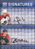 2008/09 Upper Deck Be A Player Signatures Dual #S2HB Nathan Horton / David Booth Autograph