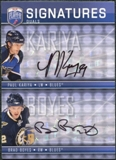 2008/09 Upper Deck Be A Player Signatures Dual #S2KB Paul Kariya / Brad Boyes Autograph