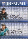 2008/09 Upper Deck Be A Player Signatures Dual #S2MS Devin Setoguchi / Patrick Marleau Autograph