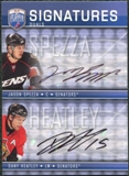 2008/09 Upper Deck Be A Player Signatures Dual #S2SH Dany Heatley / Jason Spezza Autograph