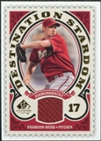 2009 Upper Deck SP Legendary Cuts Destination Stardom Memorabilia #BW Brandon Webb