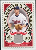 2009 Upper Deck SP Legendary Cuts Destination Stardom Memorabilia #MO Justin Morneau