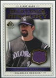 2009 Upper Deck SP Legendary Cuts Destined for History Memorabilia #HE Todd Helton
