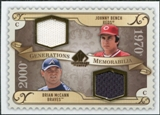 2009 Upper Deck SP Legendary Cuts Generations Dual Memorabilia #GMJB Brian McCann Johnny Bench